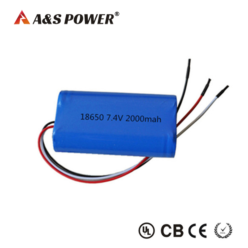 7.4v 2000mah 18650 li-ion battery