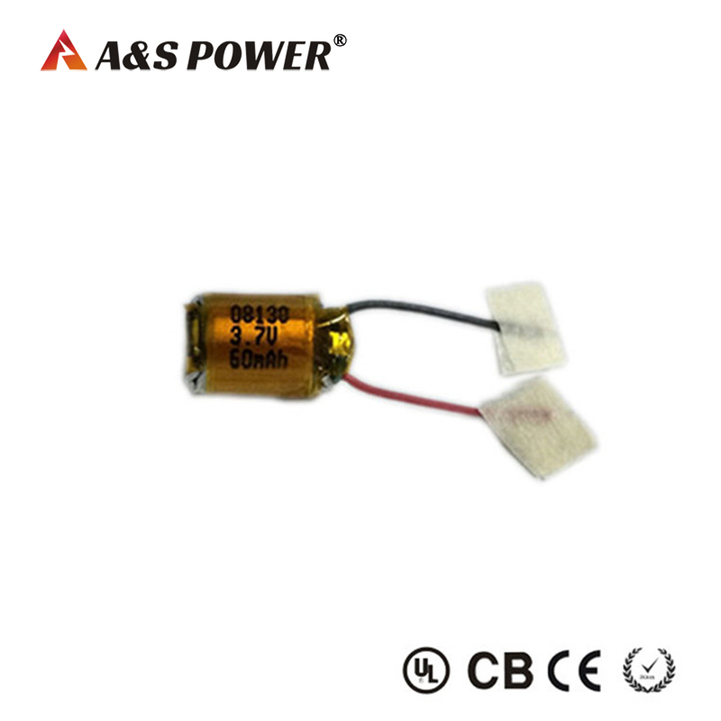 08130 3.7v 60mah lipo battery for Bluetooth headset