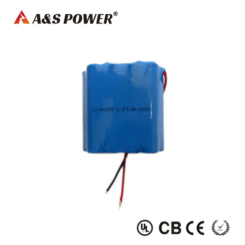 18650 11.1v 6.6ah li- ion battery