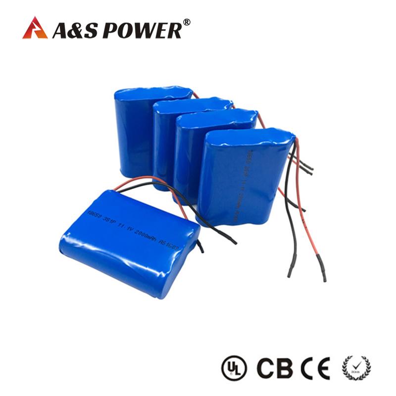 18650 3S1P 11.1v 2ah Li-ion Battery pack for LED light