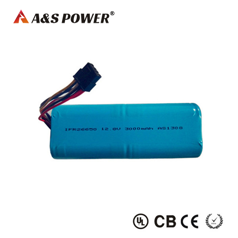 IFR26650 12.8v 3Ah lifepo4 battery pack for led light