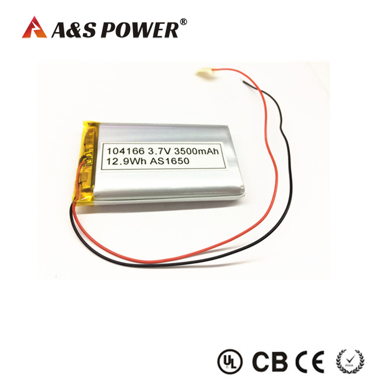 AS 104166 3.7v 3500mah lipo battery