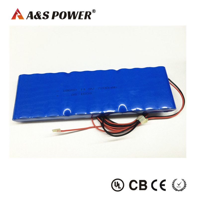 AS 14.8v 7200mah lithium ion battery