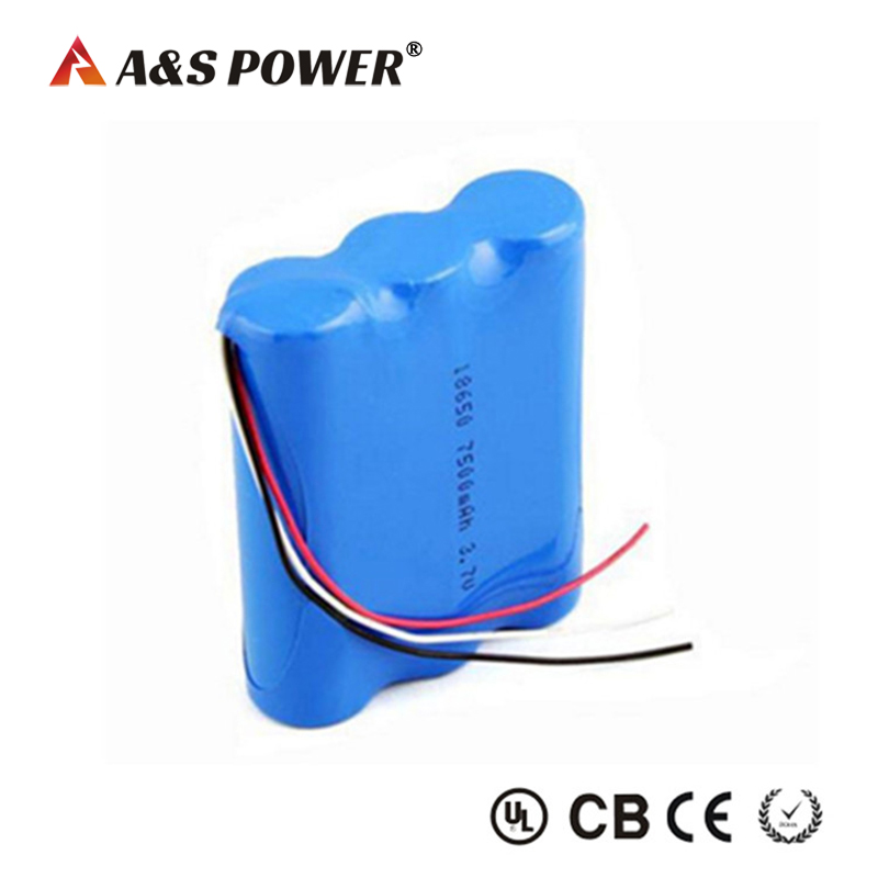 3.7v 7500mah li-ion battery