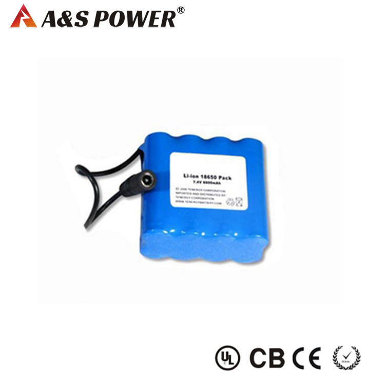 2S4P 18650 7.4V 8800mah Lithium ion battery
