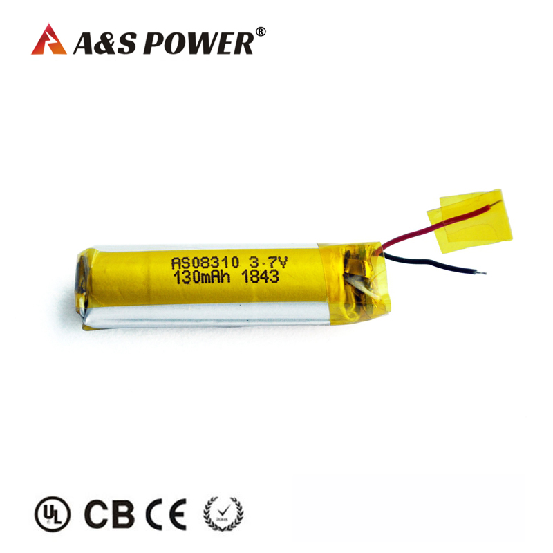 130mah 3.7v Cylindrical Lip...