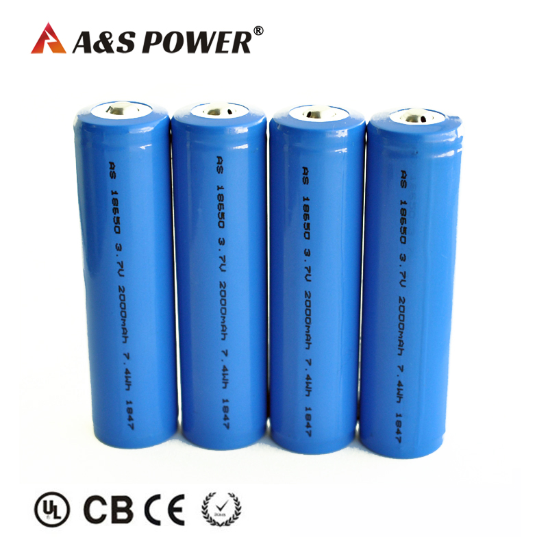 18650 3.7v 2000mah lithium rechargeable cell