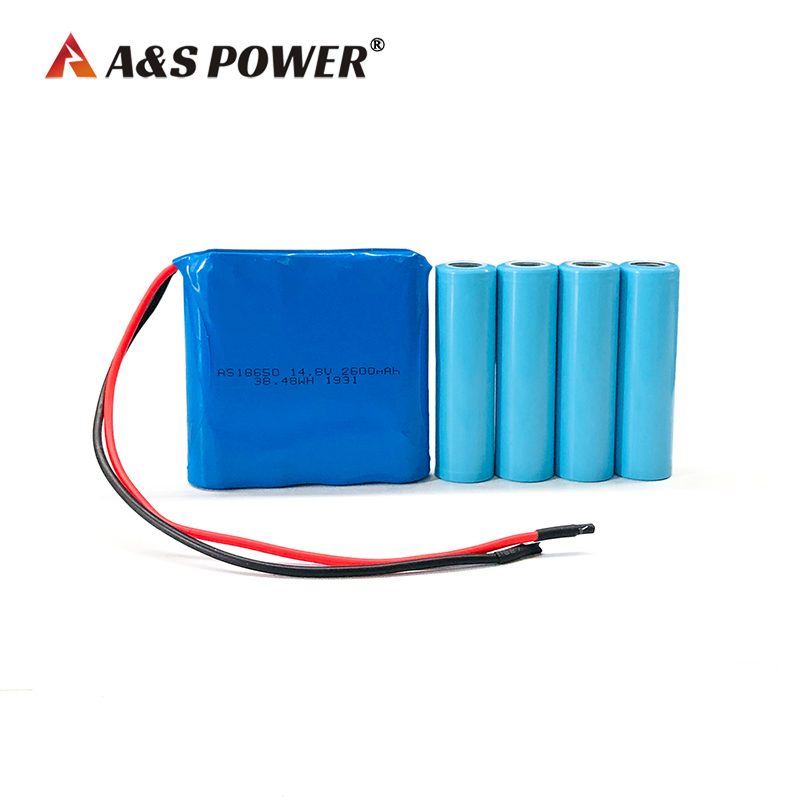 18650 14.8v 2600mah rechargeable lithium ion battery