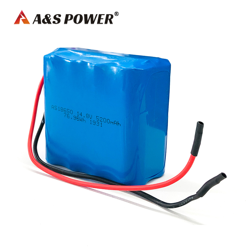 18650 4S2P 14.8v 5200mah lithium ion battery
