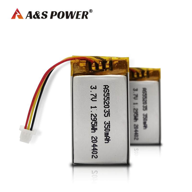 UL2054 CB KC Certified 552035 3.7v 350mah lithium polymer battery
