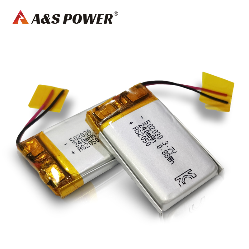 UL Approval 502030 Lithium Polymer Battery for Bluetooth Headset